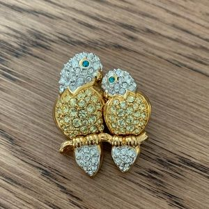 🌻NWOT Swarovski Lovebirds on a Branch Brooch